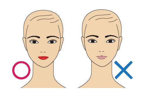Illustration art applying lipstick color
